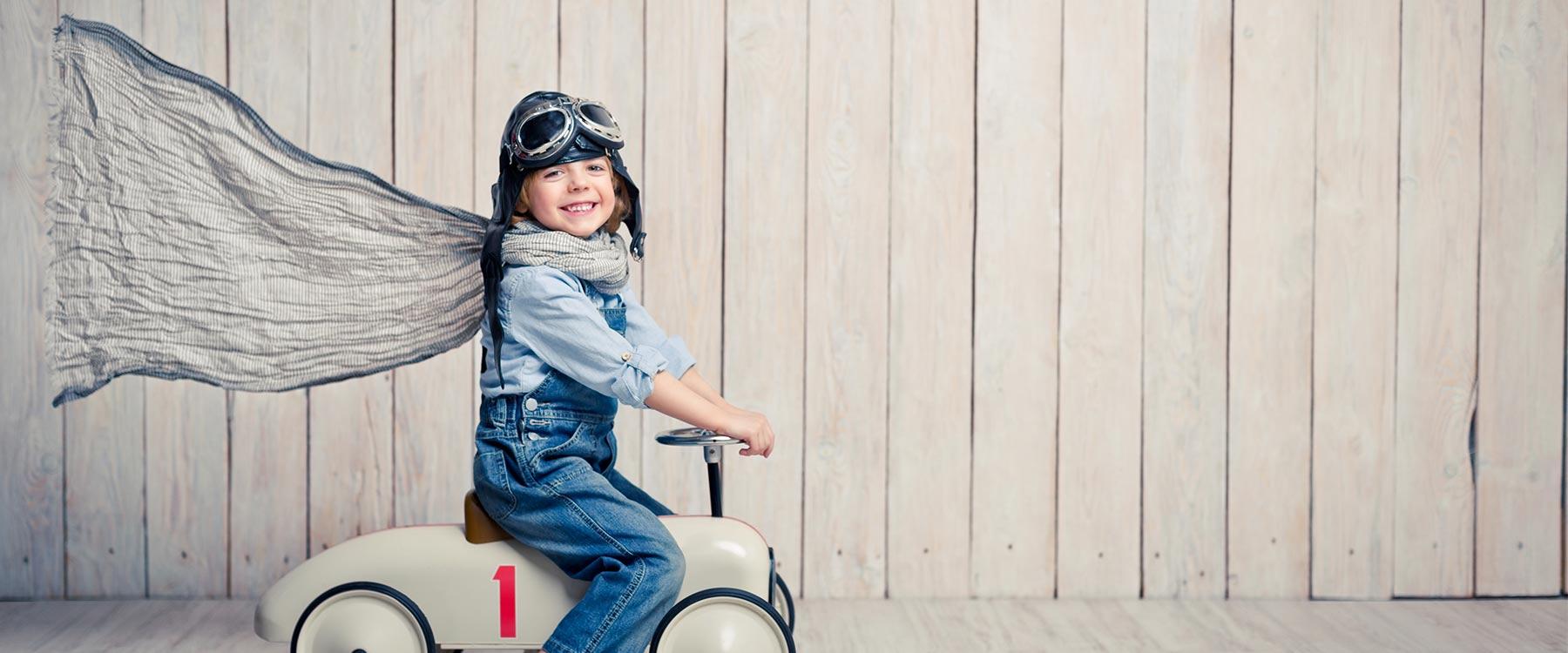 Mongio Imaginative Child Smiling